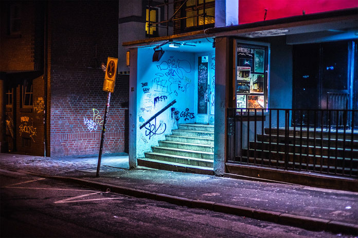 After hours in Hamburg by Mark Broyer, Shabby places