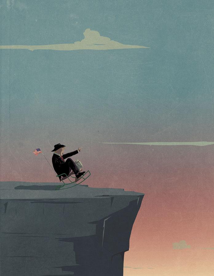 Andrea Ucini Illustration, He makes America great again