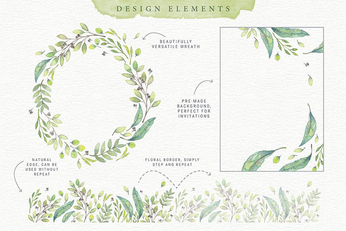 Design elements and watercolor illustrations by Lisa Glanz.