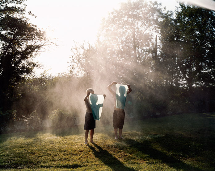 Emma Hardy, light, shadows, and silhouettes of two children
