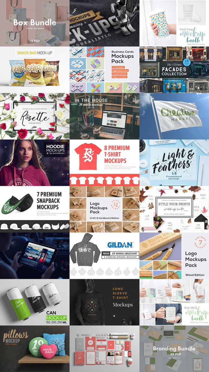 Huge mockups bundle – 389 high quality mock-ups.