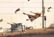 Mike Dempsey's photographs convey a hilarious take on gravity