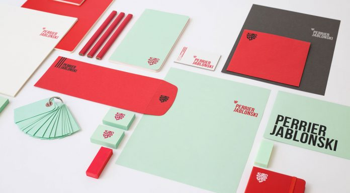 Perrier Jablonski branding and graphic design by Simon Laliberté, Gaetan Namouric, Veronika Žuvić.