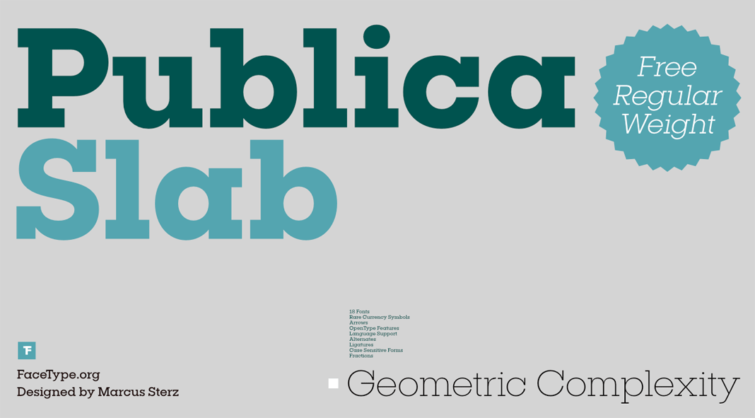 Publica Slab font family from FaceType