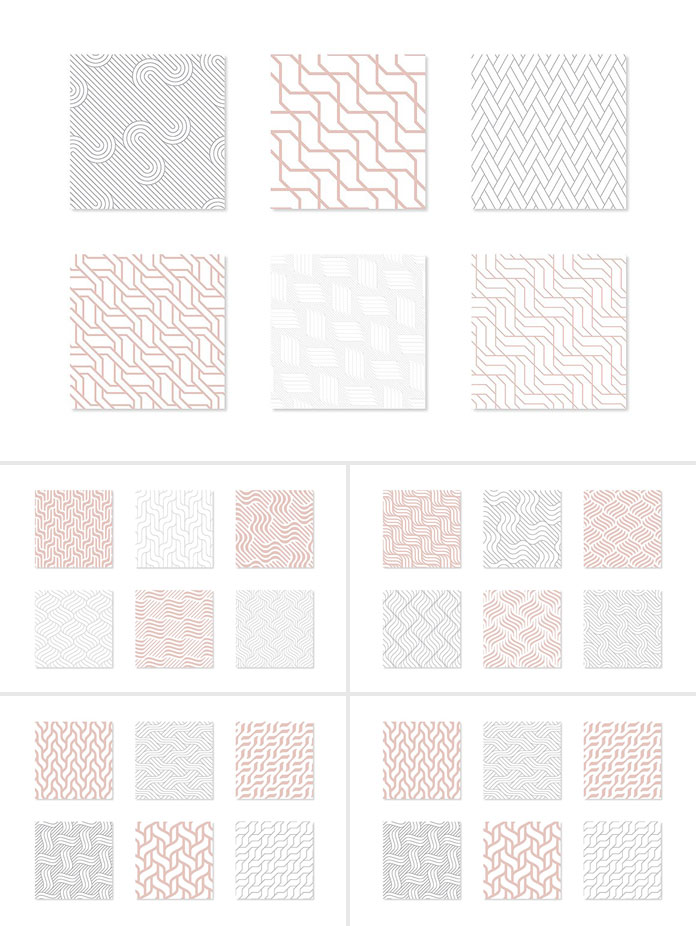 Seamless geometric patterns by Curly Pat.