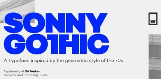 Sonny Gothic font family from W Foundry.