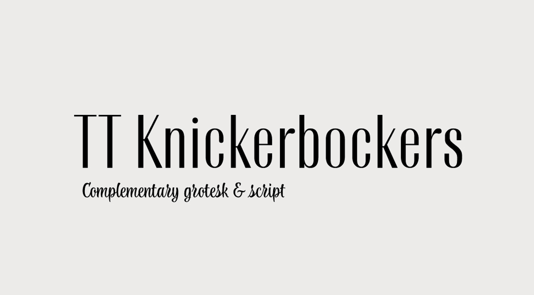TT Knickerbockers from TypeType