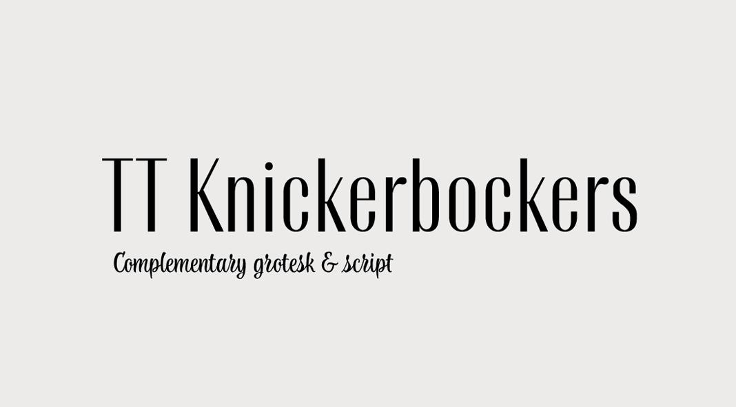 TT Knickerbockers from TypeType