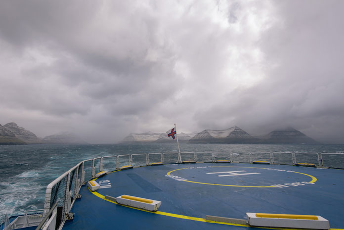 The Helicopter Deck on the MS Norröna, Faroe Islands (2016)