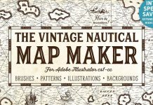 The Vintage Nautical Map Maker.