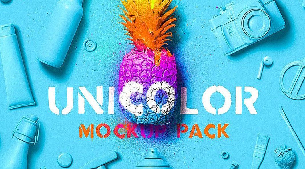 Unicolor Scene Mockup Pack from Mockup Zone