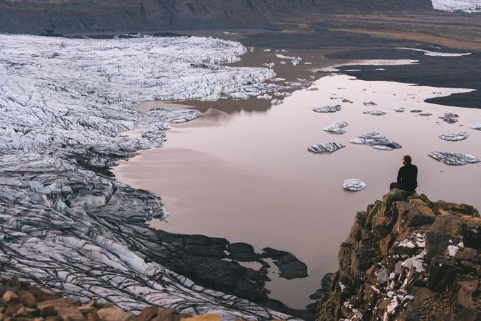 View over Skaftafellsjökull Glacier, Iceland (2016)