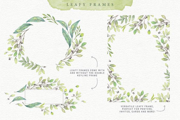 Leafy frames.