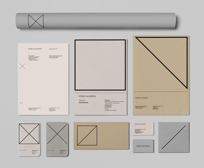 Brand development by Buenaventura estudio for architect Pedro Salmerón.