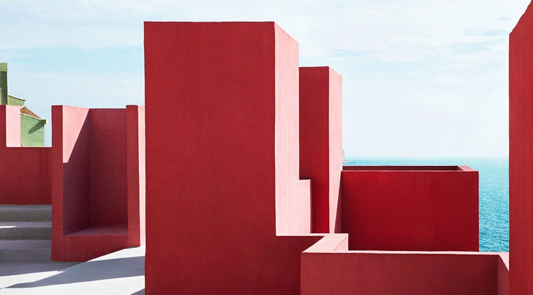 Ricardo Bofill's famous Muralla Roja in Calpe, Spain captured by Jeanette Hägglund.