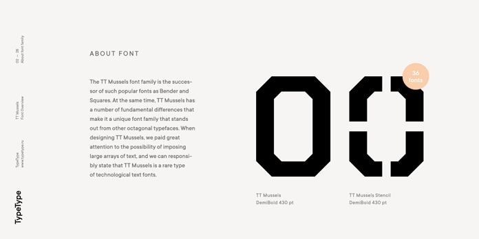 About the font family.