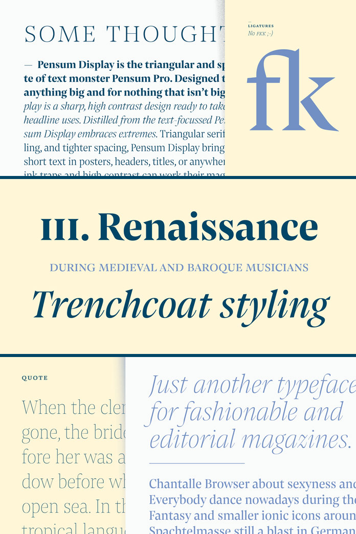 Triangular and spiky serif font family.