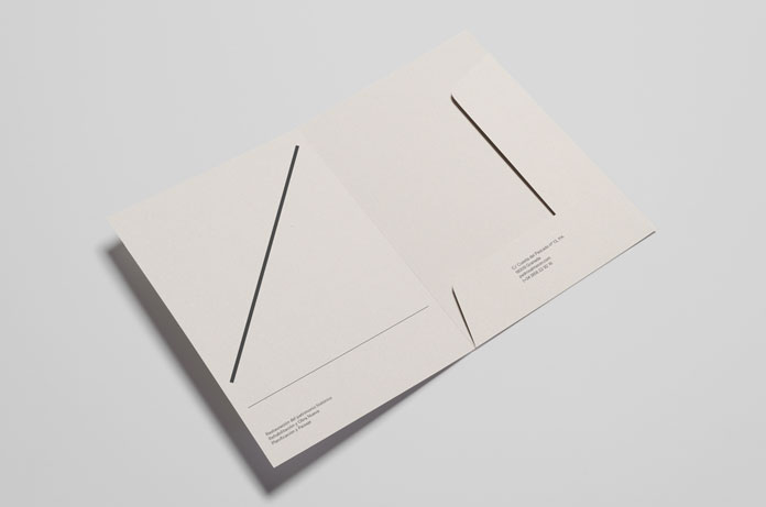 Folder for branding materials and stationery.