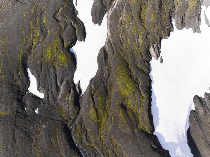 Iceland from above - aerial photography by Kevin Krautgartner, the last snow.