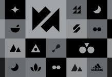 Adidas icons designed by studio TRÜF for a unique and modern fitness app.