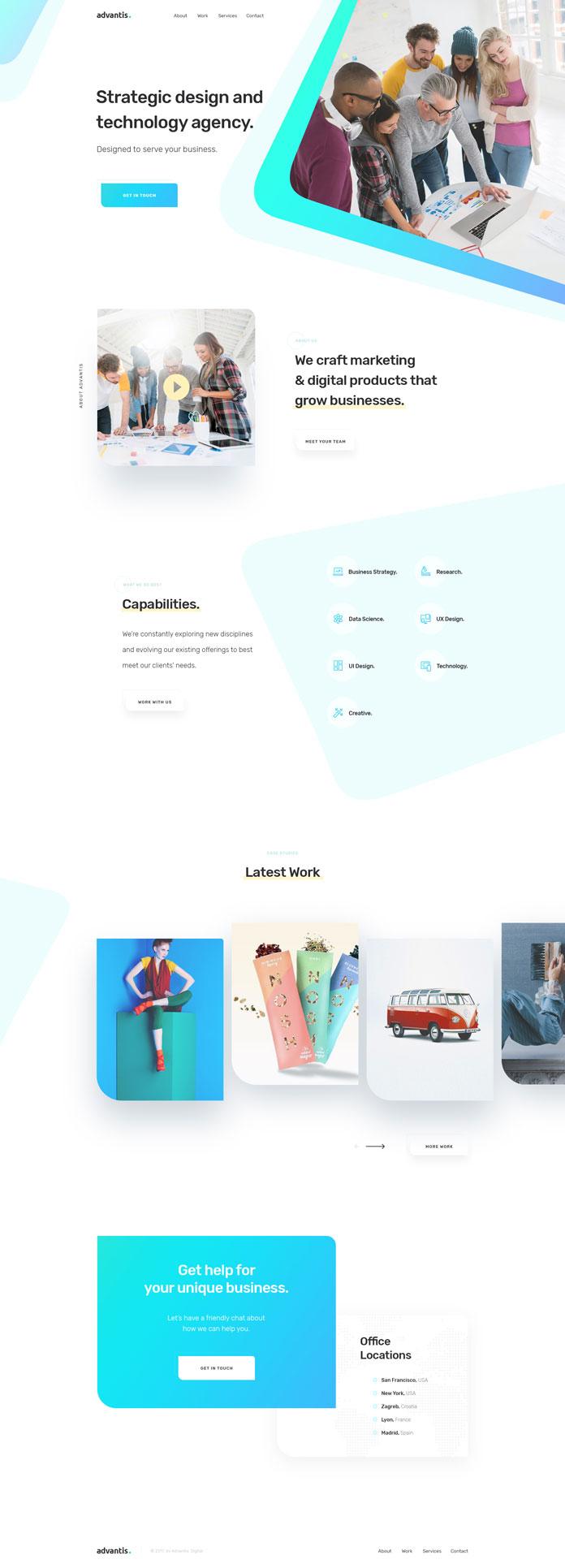 Advantis Homepage