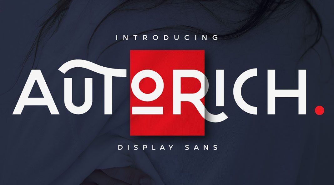 Autorich Sans display font by Typia Nesia Studio.