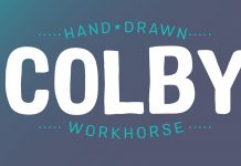 Colby hand-drawn sans serif font family by Jason Vandenberg.