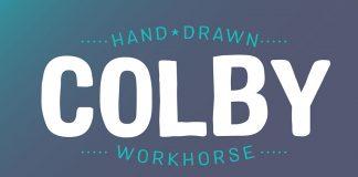 Colby hand-drawn sans serif font family by Jason Vandenberg.