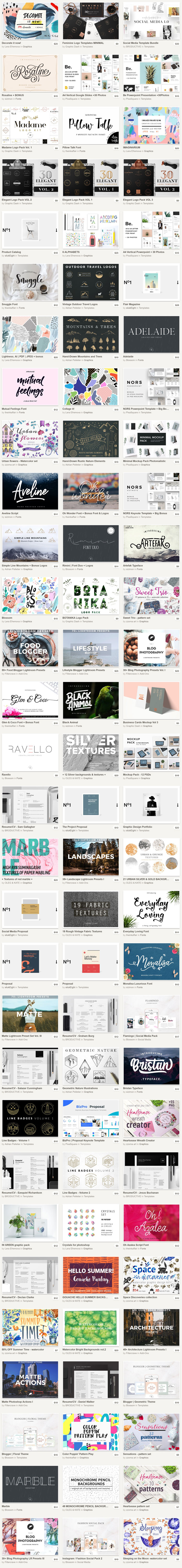 Creative Market September Big Bundle