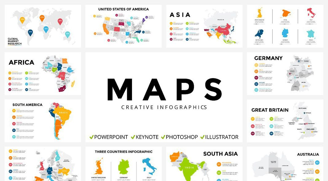 infographic maps in different formats