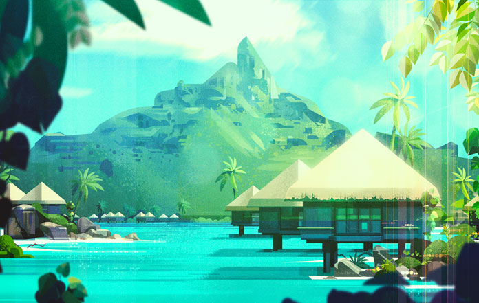 James Gilleard Illustrations, Holidays in paradise