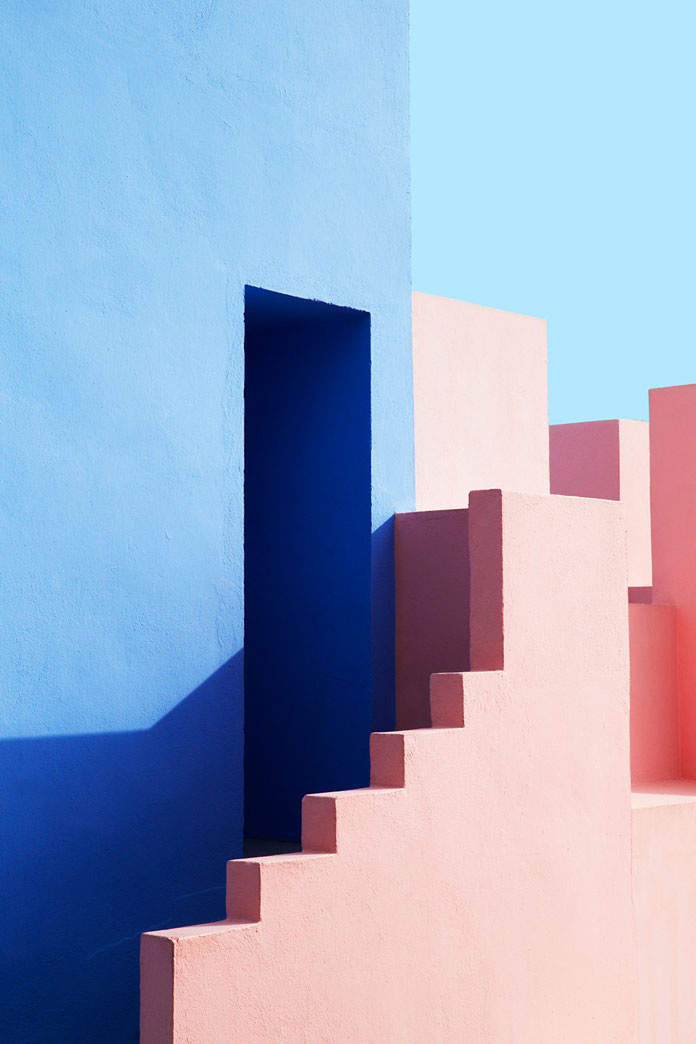 Jeanette Hägglund Photography, Geometric shapes in various tones of red, blue, and violet.