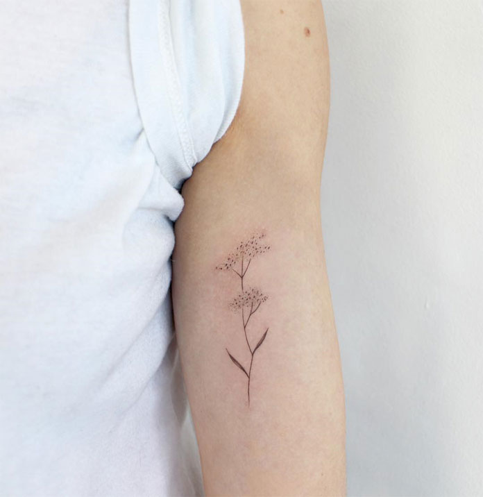 Jessica Chen tattoos, delicate drawing.