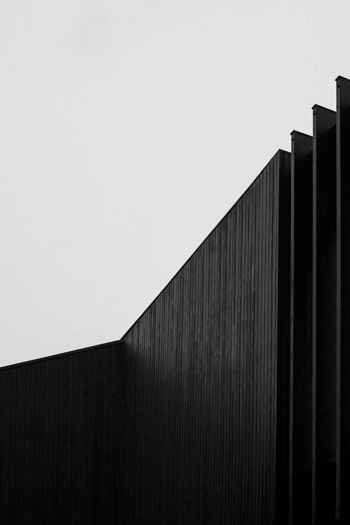 Kim Høltermand Photography, Dark shades in an architectural construction.