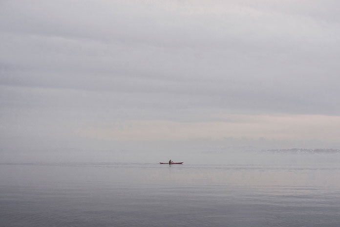 On His Own – photo series by Pawel Franik, a single boat