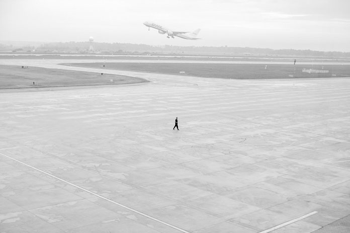 On His Own – photo series by Pawel Franik, walk and fly