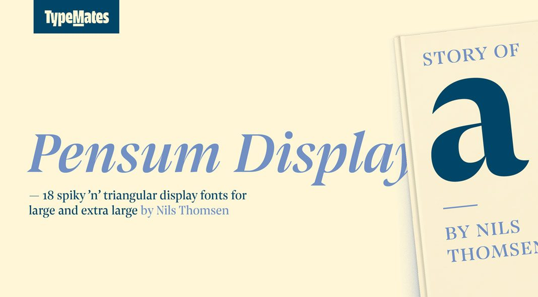 Pensum Display font family from TypeMates.