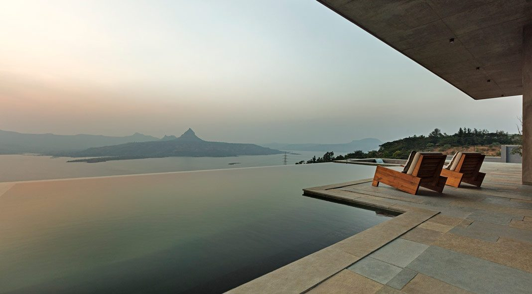 Retreat in the Sahyadri mountain range designed by Khosla Associates.
