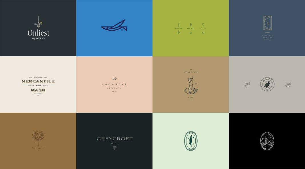Various logo designs by Stitch Design Co.