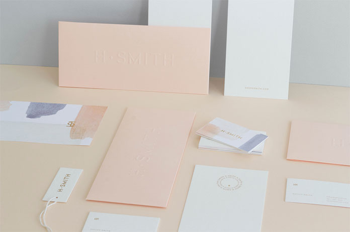 Art direction, branding, graphic design, and packaging by Kati Forner for luxury boutique H. Smith.