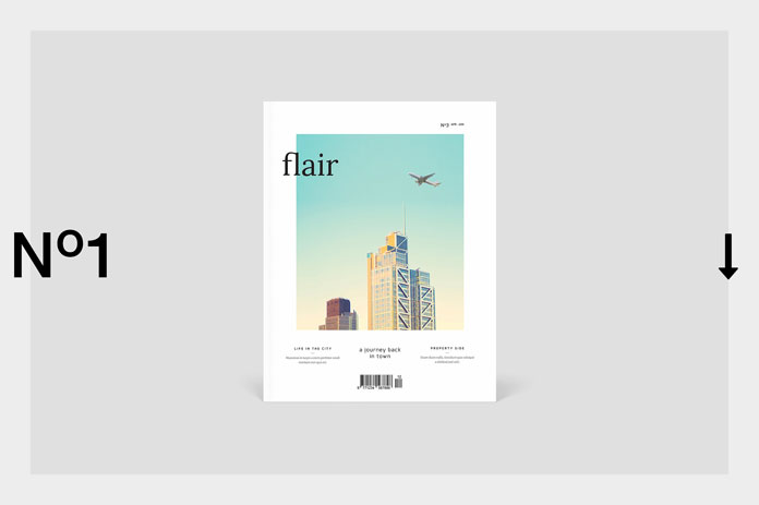 Flair magazine template from silukEight.