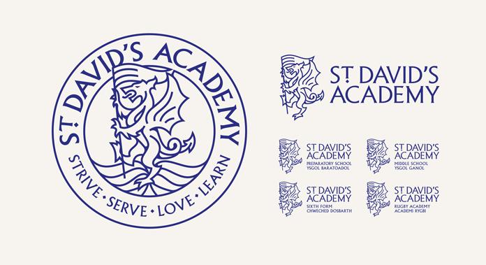 St David's Academy School – Graphic Design and Branding by Limegreentangerine