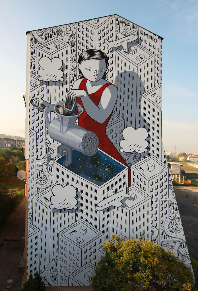 Millo Mural in Fontanelle, Pescara, Italy