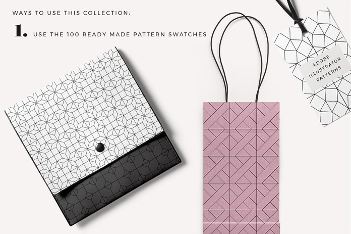 Use the ready-made pattern swatches.