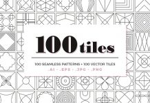 100 tiles – seamless patterns as vector and image files.