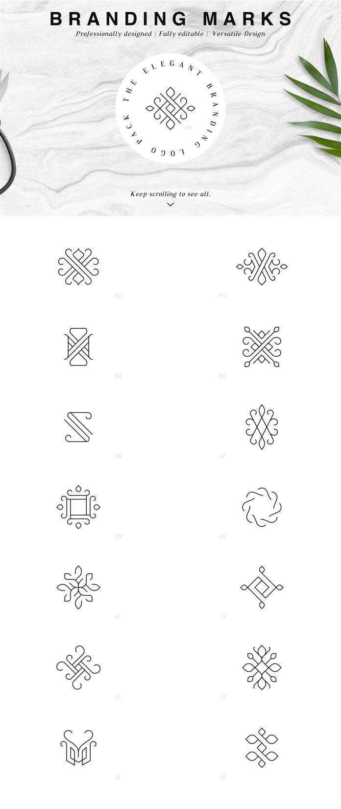Branding marks.