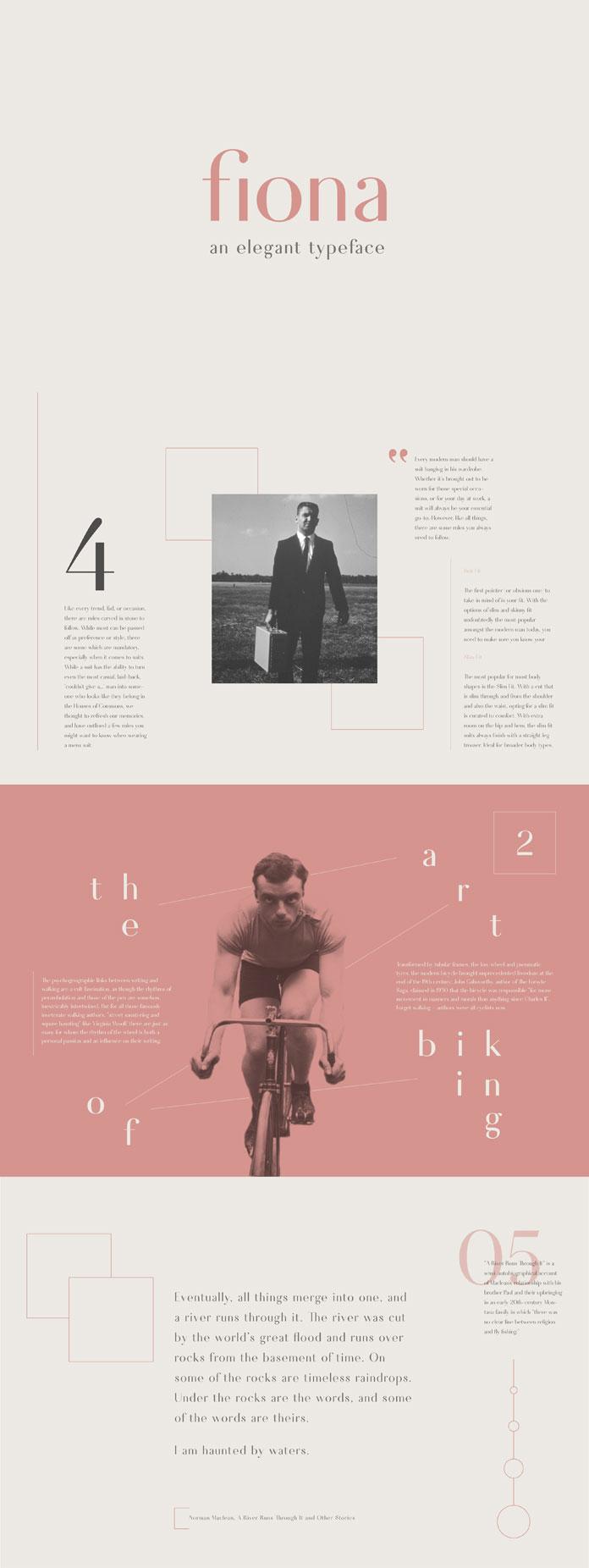 Fiona, an elegant typeface.