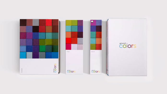 Gmund Colors - 48 colors offered in four surface options.