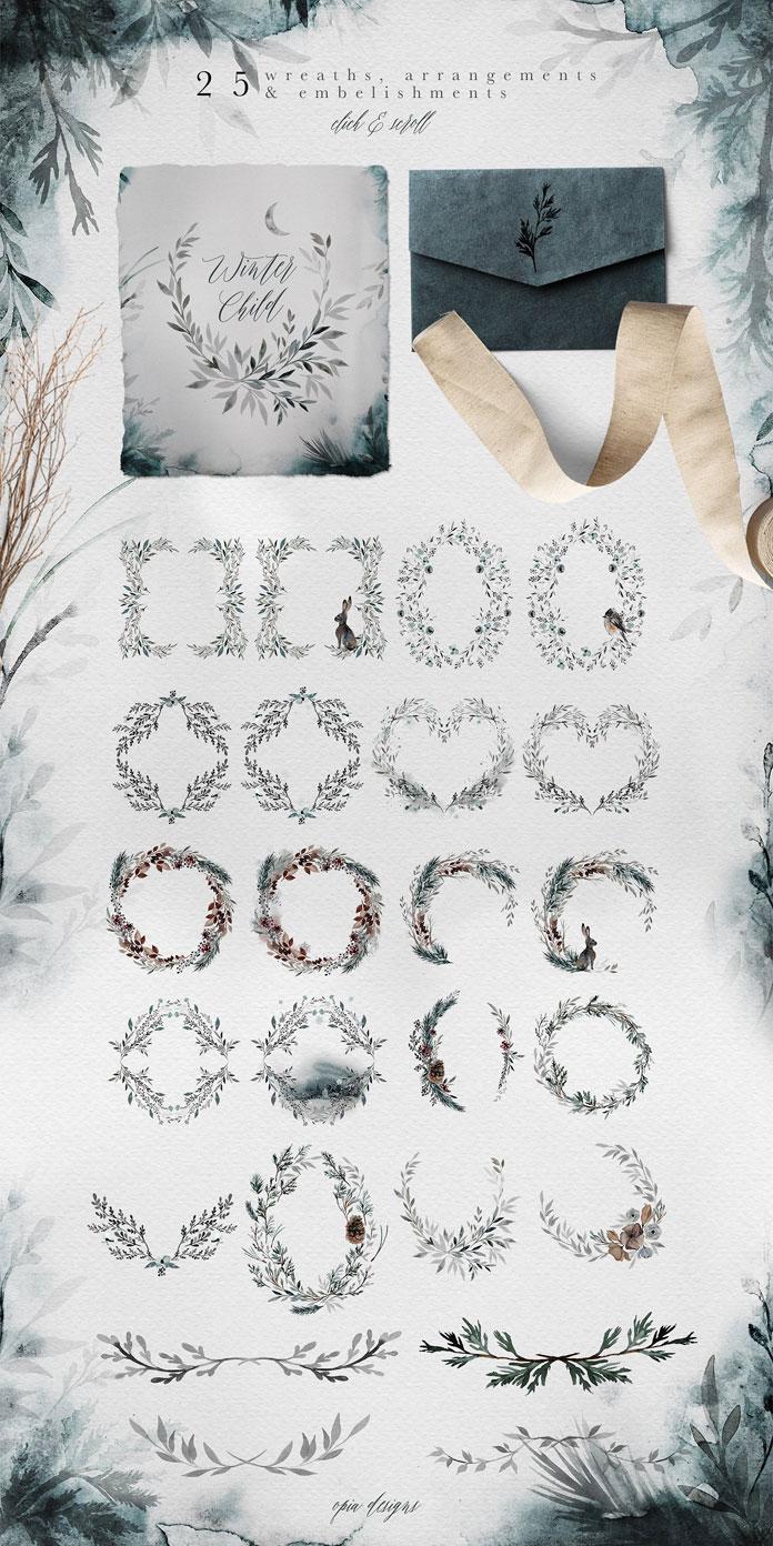 25 wreaths, arrangements, and embellishments.