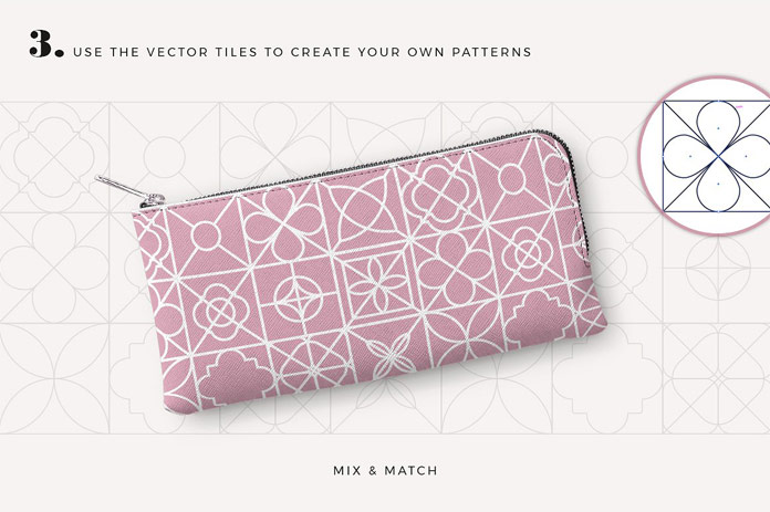 Use the vector tiles to create your own patterns.